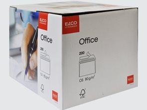 Obálky ELCO Office samolepicí s páskou C6 200 ks bílé