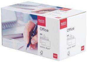 Obálky samolepící Office Elco Box DL s oknem vlevo bílé - 200ks