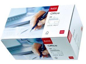 Obálky ELCO Office samolepicí s páskou DL s okénkem vpravo 200 ks bílé