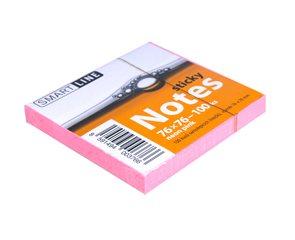 Smart Line Samolepicí bloček 76x76 mm 100 listů - Neon Pink