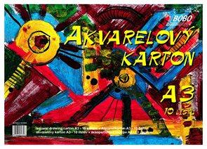 BOBO Akvarelový papír A3 10 listů
