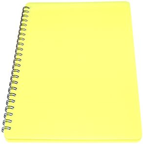 BOBO Plastic blok Neon A5 linka 60 listů - žlutý