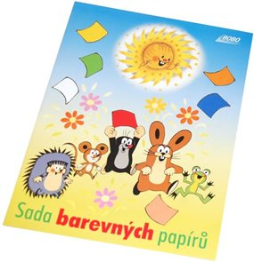 BOBO Sada barevných papírů KRTEK 10 listů A4