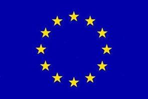 Vlajka EU - karabiny na zavěšení 150×225