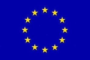 Stolní vlaječka EU - praporek s návlekem