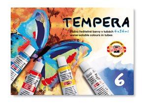 Koh-i-noor,barvy temperové v tubě 16 ml - 6 barev