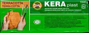 Koh-i-noor  Modelovací hmota Keraplast vytvrditelná 1000 g - terra