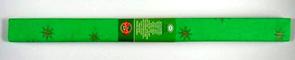 Krepový papír - zelený + zlatá hvězda
