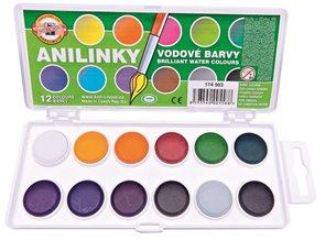 Koh-i-noor Barvy brilantní (anilinky) 12 barev, 22 mm