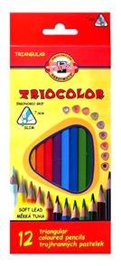 Koh-i-noor Pastelky TRIOCOLOR 3132, 12 barev - trojboké