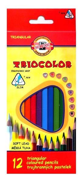 Koh-i-noor Pastelky dřevěné 12 barev - trojboké