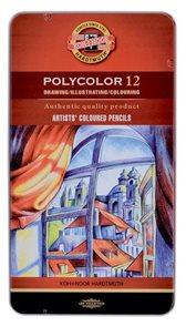 Umělecké pastelky Koh-i-noor POLYCOLOR - 12ks