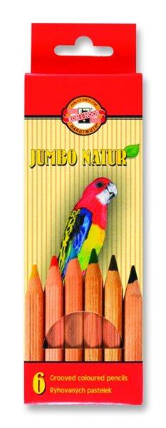 Koh-i-noor pastelky 2171N/6 JUMBO NATUR