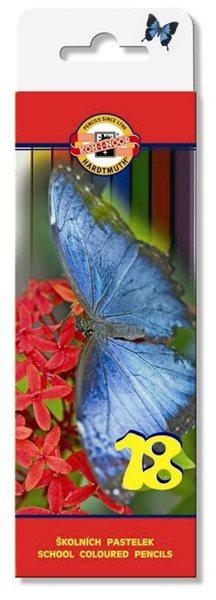 Koh-i-noor pastelky 3617 - 18 ks