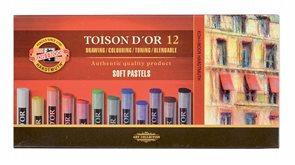 Umělecké prašné pastely Koh-i-noor TOISON DOR 8512 - 12 ks