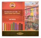 Umělecké prašné křídy Koh-i-noor TOISON DOR 8584 - 24 ks