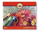 Křídy prašné Koh-i-noor - TOISON DOR 8511 - 6 barev