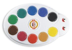 Koh-i-noor vodové barvy 10 barev, 57 mm