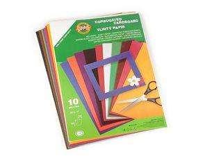 Vlnitý papír Koh-i-noor - mix 10 barev