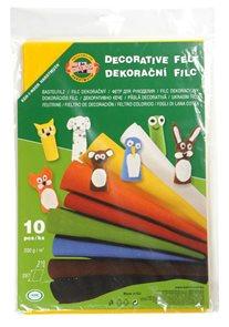 Dekorační filc Koh-i-noor - mix 10 barev