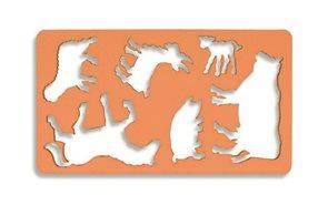 Obkreslovací šablona - zvířátka I.