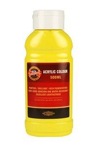 Koh-i-noor akrylová barva Acrylic - 500 ml - žluť citronová