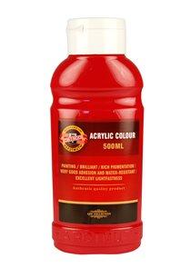 Koh-i-noor akrylová barva Acrylic - 500 ml - červená tmavá