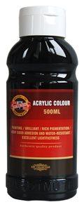 Koh-i-noor akrylová barva Acrylic - 500 ml - černá