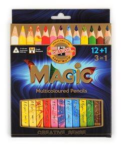 Koh-i-noor souprava pastelek Magic 3408 JUMBO - 12+1