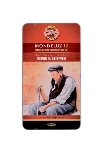 Umělecké akvarelové pastelky Koh-i-noor MONDELUZ - 12 ks