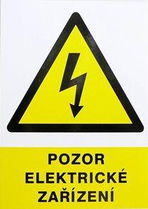 Pozor elektrické zařízení - A4/ plast