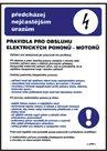 Pravidla pro obsluhu elektrických pohonů (motorů) - A3/ plast