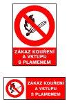 Zákaz kouření a vstupu s plamenem - A5/ fólie