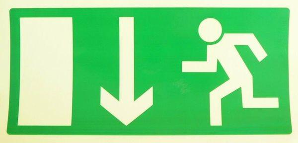 Nouzový východ (nad dveře) - 20×10/ FL-plast - Svítivost: 400 mcd/m2 po 10 min. (dosvit 5400 min)