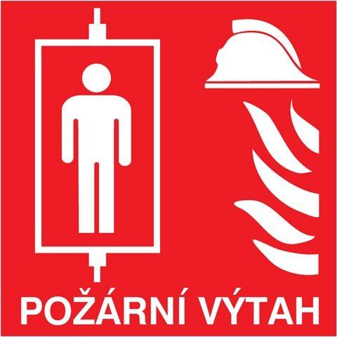 Požární výtah - 10×10/ FL-fólie - Svítivost: 400 mcd/m2 po 10 min. (dosvit 5400 min), Sleva 50%