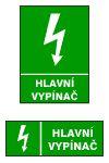Hlavní vypínač - A4/ fólie