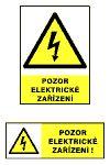 Pozor elektrické zařízení A5/ fólie