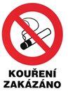 Zákaz kouření (označení restaurací) - 12x16 / samolepící folie