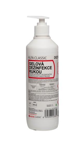 GELOVÁ DEZINFEKCE RUKOU - 500 ml, s pumpičkou