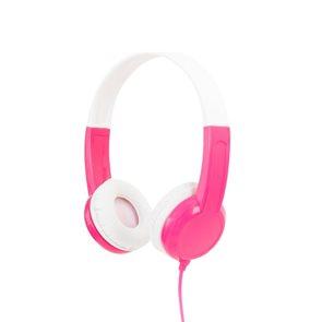 BuddyPhones Discover - dětská drátová sluchátka, růžová