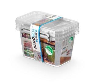 Nanobox - sada antibakteriálních boxů - 2 x 0,65 L