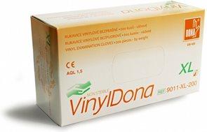 Jednorázové rukavice DONA Vinyl bez pudru, 100ks - vel. XL
