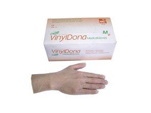 Jednorázové rukavice DONA Vinyl bez pudru, 100ks - vel. M