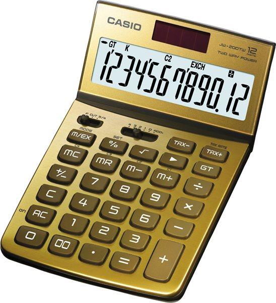 Casio Kalkulačka JW 200TV GD - zlatá