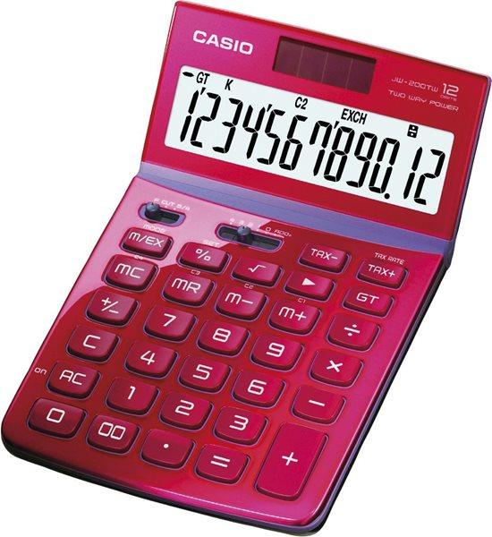 Casio Kalkulačka JW 200TW RD - růžová