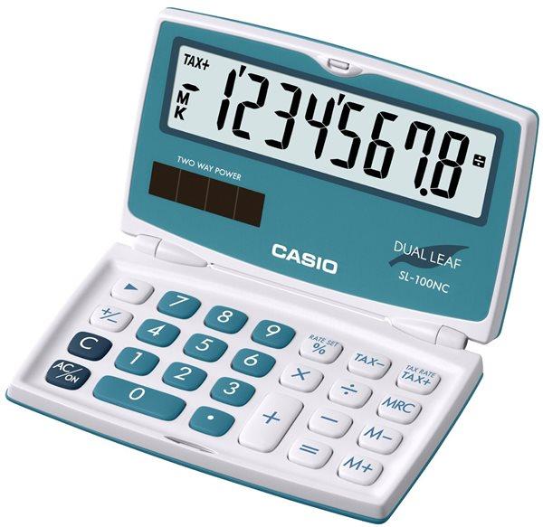 Casio Kalkulačka SL 100NC BU - modrozelená