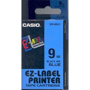 Samolepicí páska 9 mm  modrá + černý tisk