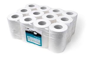 Smartline Midi papírové ručníky v roli 2 vrstvé - bílé ( 12 rolí )