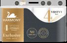 Harmony Exclusiv Pure White toaletní papír 4 vrstvý - 8 ks