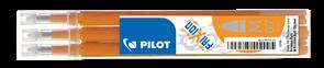 Pilot FriXion Ball 07 Náplň sada 3 ks - oranžová